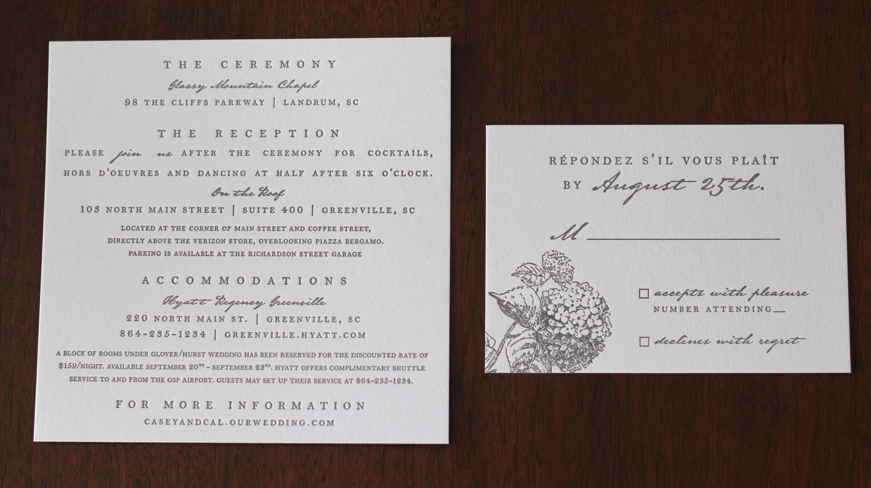 Custom Wedding Invitation Suite | lucy zeiger