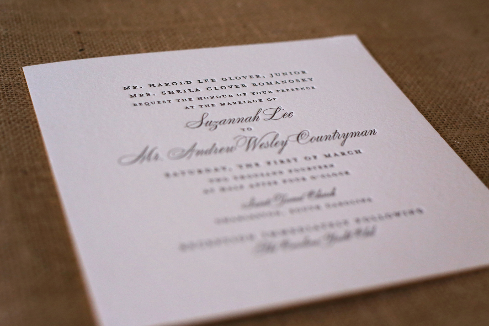 Suzannah & Andy | Wedding Invitation